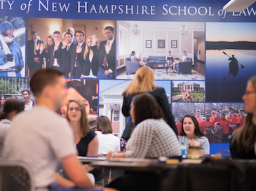 students at tables at UNH School of Law