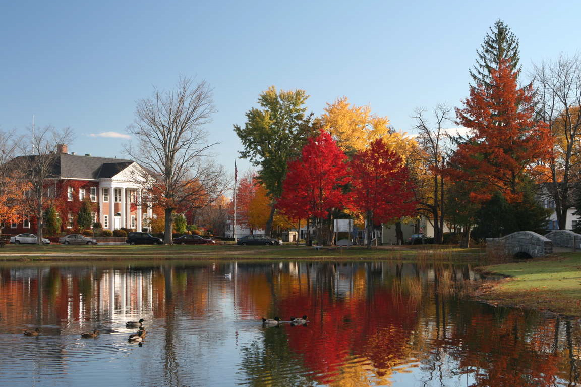 Fall foliage at the UNH Law School