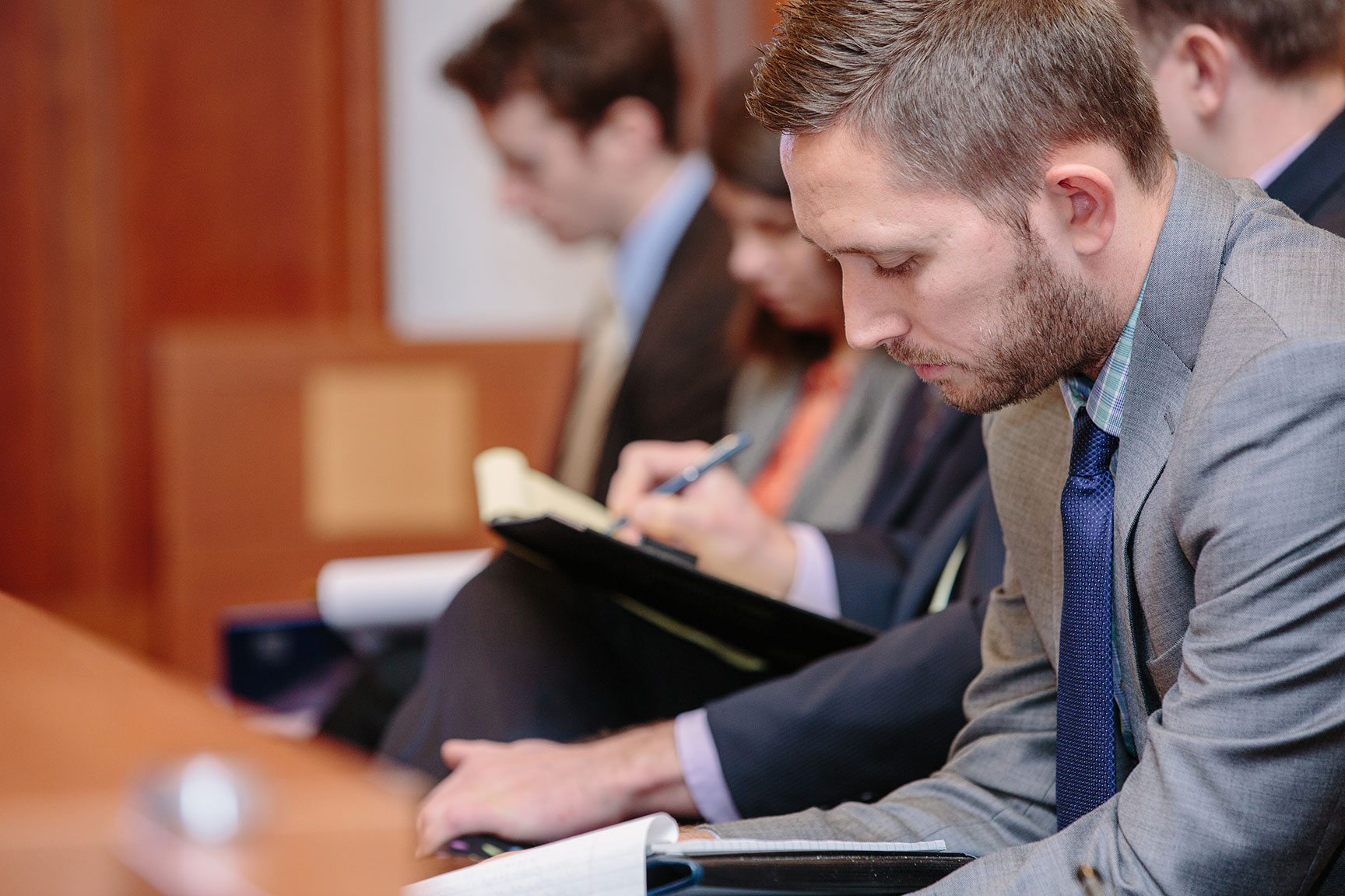 UNH Law students in courtroom