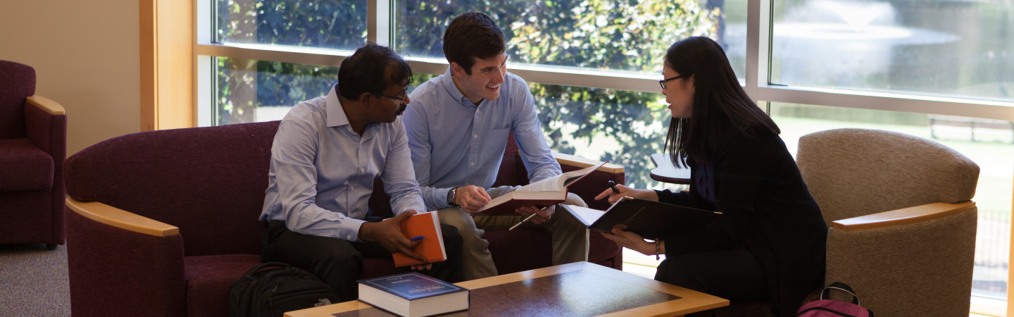 Law students in library