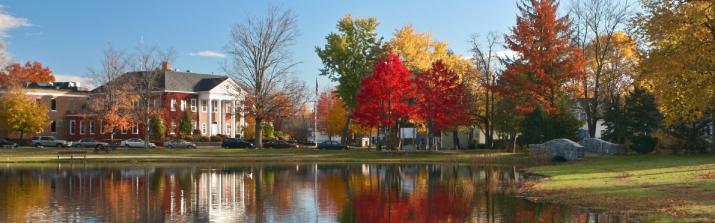 exterior view of UNH Law in the Fall