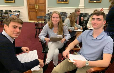 Civics 603 Students at the NH Supreme Court