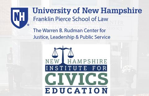 Rudman Center and NH Civics logos