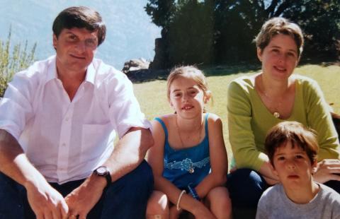 Dámaso Pardo and his family