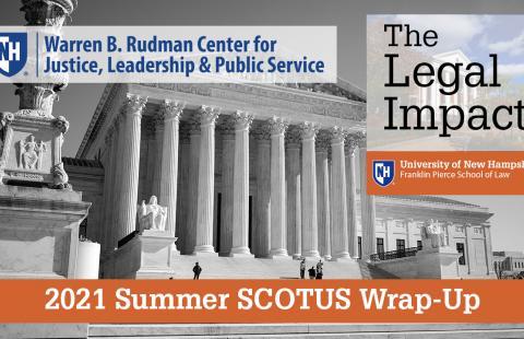 Rudman and TLI logos over image of US Supreme Court