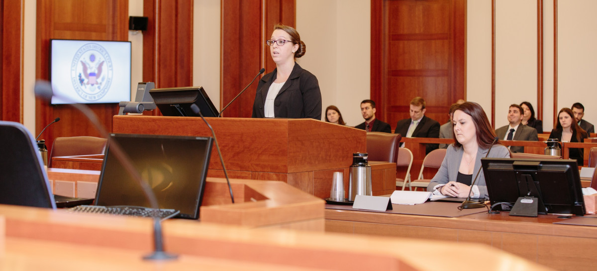 Students in federal courtroom
