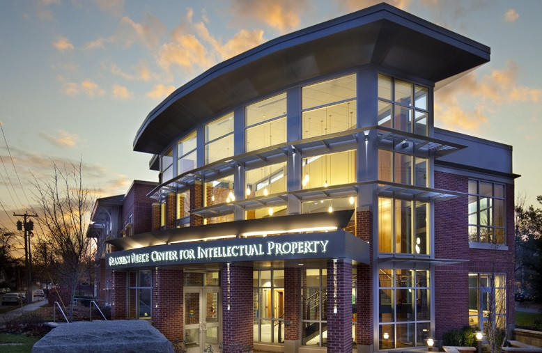 IP center exterior at dusk